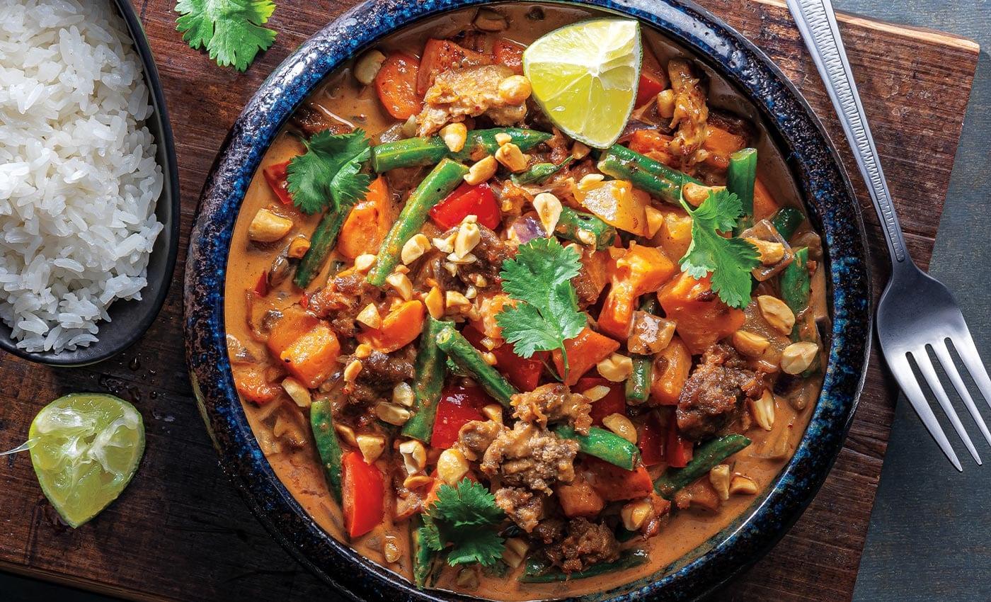 Vegan Thai Massaman Curry Veggies