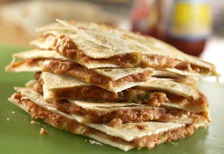 bean and cheese quesadillas
