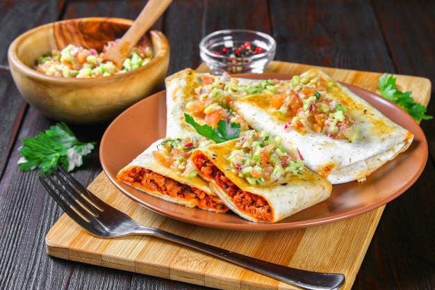 mexican dish chimichanga